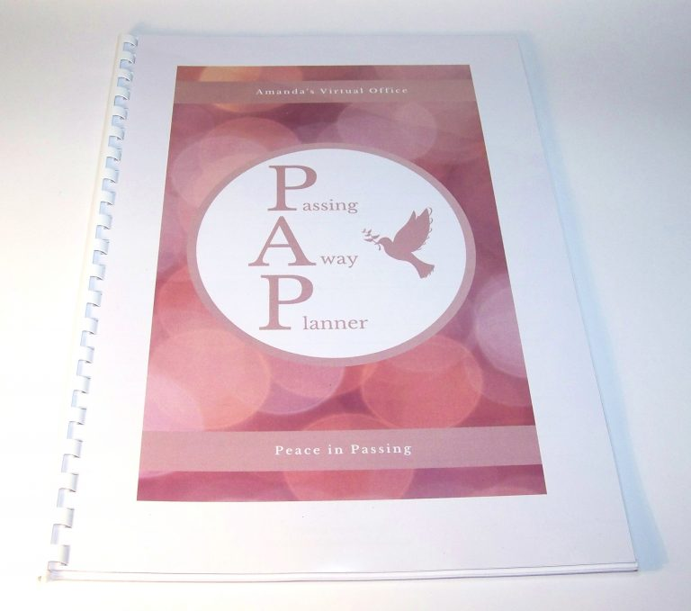 Passing Away Planner Front