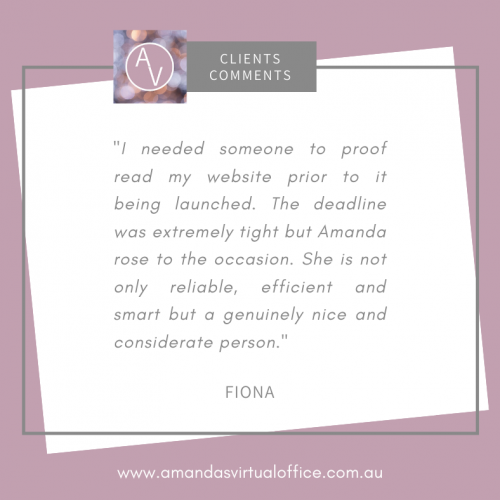 Clients Comments (Fiona)