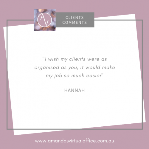 Clients Comments (Hannah)